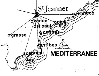 map of saint jeannet - gites des baous